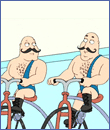 [Jaunty musclemen from the 'Family Guy']