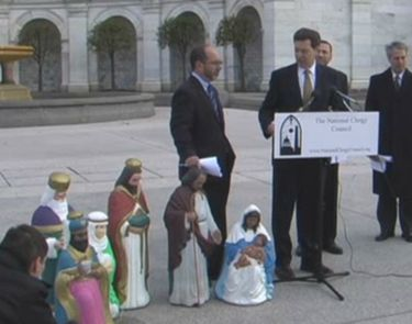 Brownback in Nativity Scene