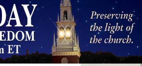 FRC Banner using Old North steeple image