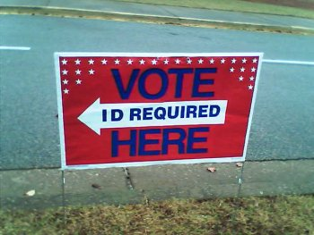 Incorrect sign at polling place in Georgia