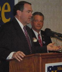 Huckabee and Gilchrist in Iowa