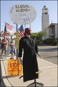 San Diego Minutemen protest