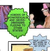 Traditional Values Coalition cartoon excerpt